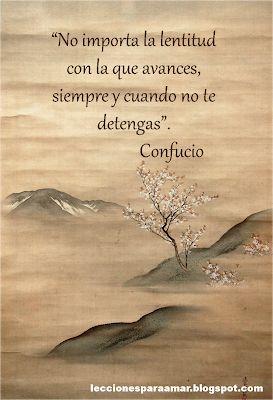 Lecciones para amar: Frase célebre de Confucio