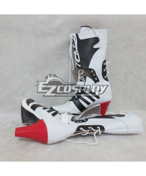 f41034003eae DC Comics New Batman Suicide Squad Harley Quinn Black Shoes Cosplay Boots   Suicide