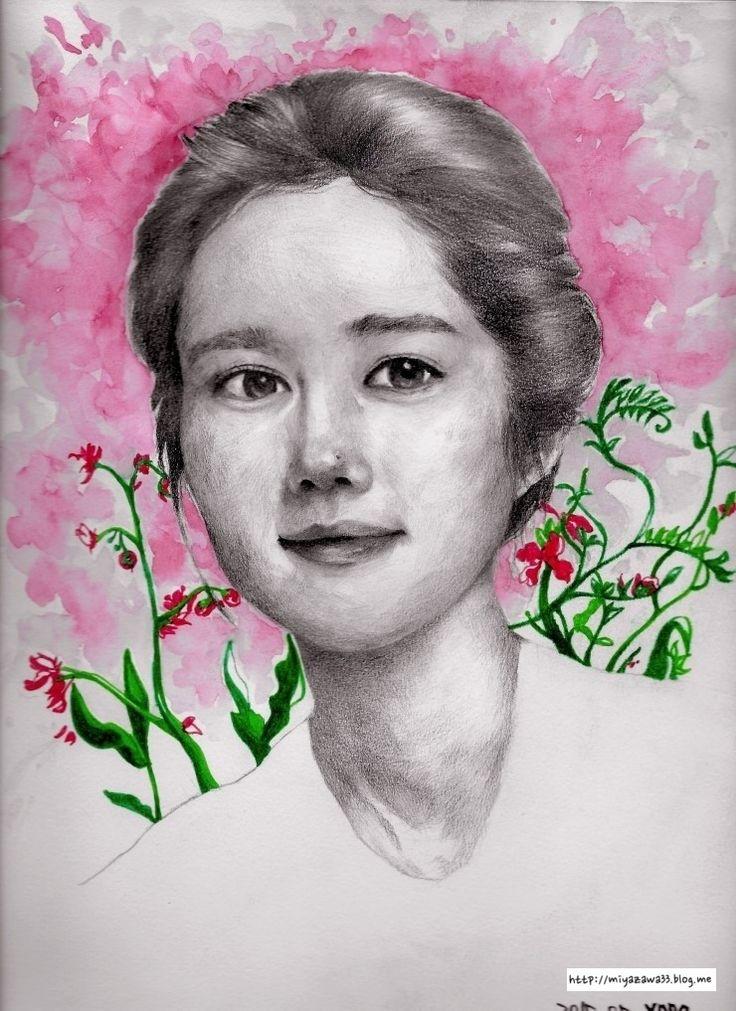 한가인,여배우 watercolor, pencil, marker