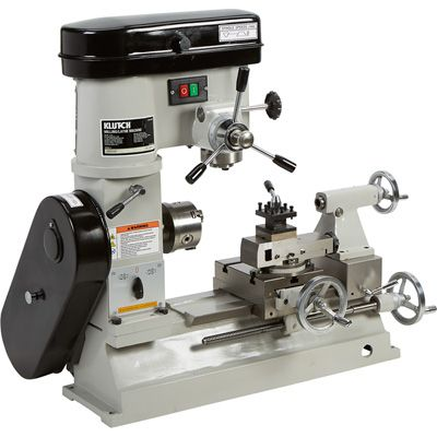 Klutch Lathe, Milling and Drilling Machine — 1/2 HP, 110V Motor