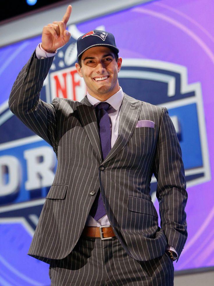 The Patriots newest draft pick, QB Jimmy Garoppolo (5/9/14)
