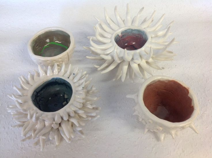 Sea life Pinch bowls (final piece) by m0onwitch.deviantart.com on @deviantART