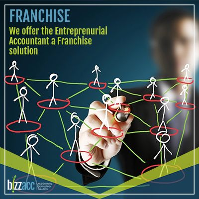 If you are an ENTREPRENEURIAL ACCOUNTANT you do not decide whether you should go into practice, rather, with your entrepreneurial flair, when and how do I go into practice. Let BIZZACC, the Entrepreneurial Accountants, assist you, the Entrepreneurial Accountant, in your decision making of WHEN and HOW. BIZZACC offers the budding ENTREPRENURIAL ACCOUNTANT a franchise solution,