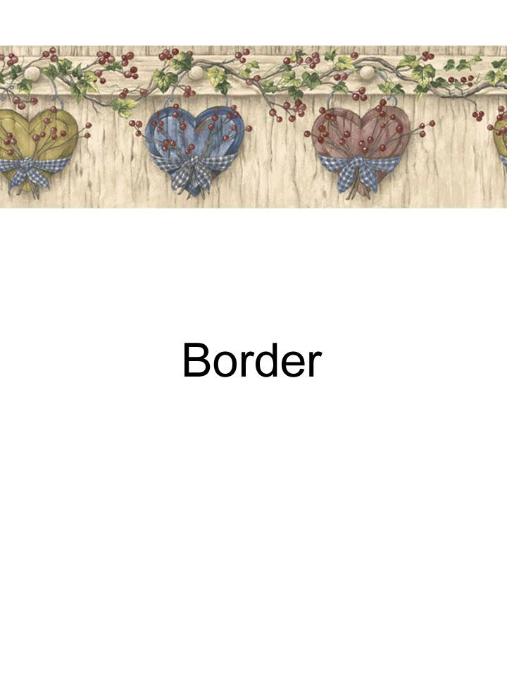 Hearts and pipberry border from wallpaperwholesaler.com