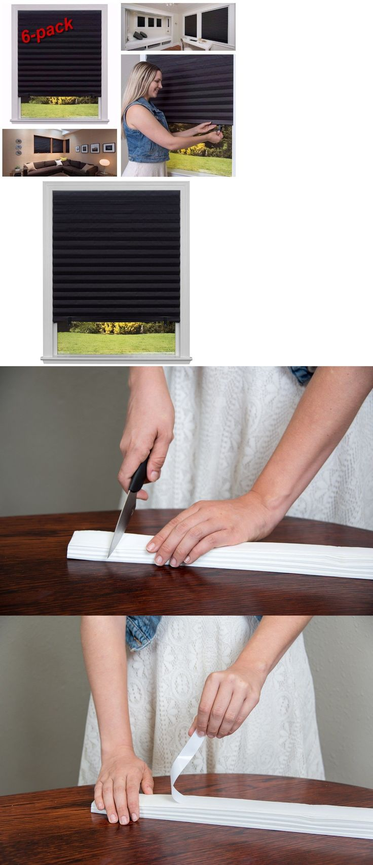 Blinds and Shades 20585: Blackout Pleated Paper Shade Home Window 6-Pack 36 X 72 Cordless Pull Down New -> BUY IT NOW ONLY: $36.24 on eBay!