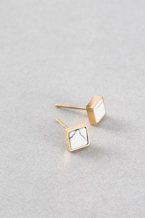 Lovoda - Emmy Stone Earrings (14K Gold), $15.00 (http://www.lovoda.com/emmy-stone-earrings-14k-gold/)