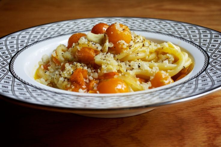 Bucatini With Sungold Tomato Sauce recipe from Rose's Luxury *this is my fav dish on their menu*