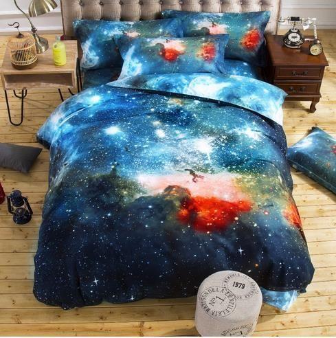 3d galaxy gêmeo conjuntos de cama de solteiro/misterioso cavalo impressão queen size roupa de cama roupa de cama capa de edredão set roupa de cama em Conjuntos de cama de Home & Garden no AliExpress.com | Alibaba Group #ropadecama