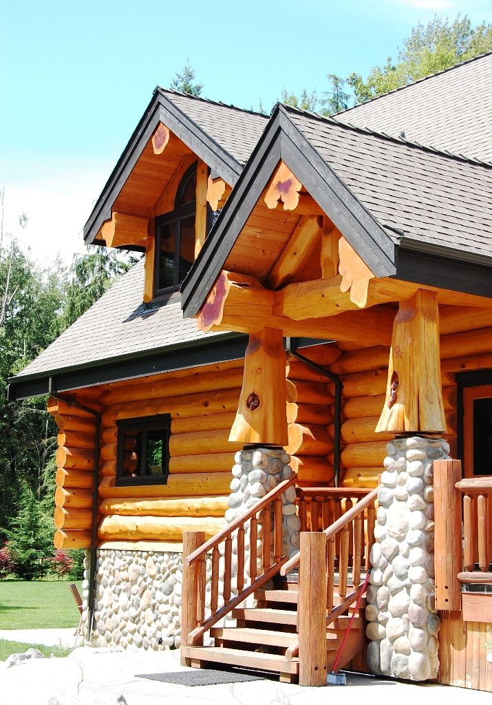 Stone Adds So Much In Partnership With Logs Log Homes