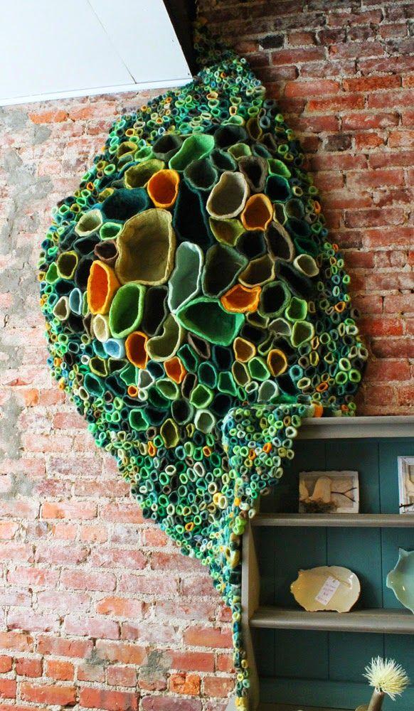Jennifer E Moss fiber art sensation. Felt art