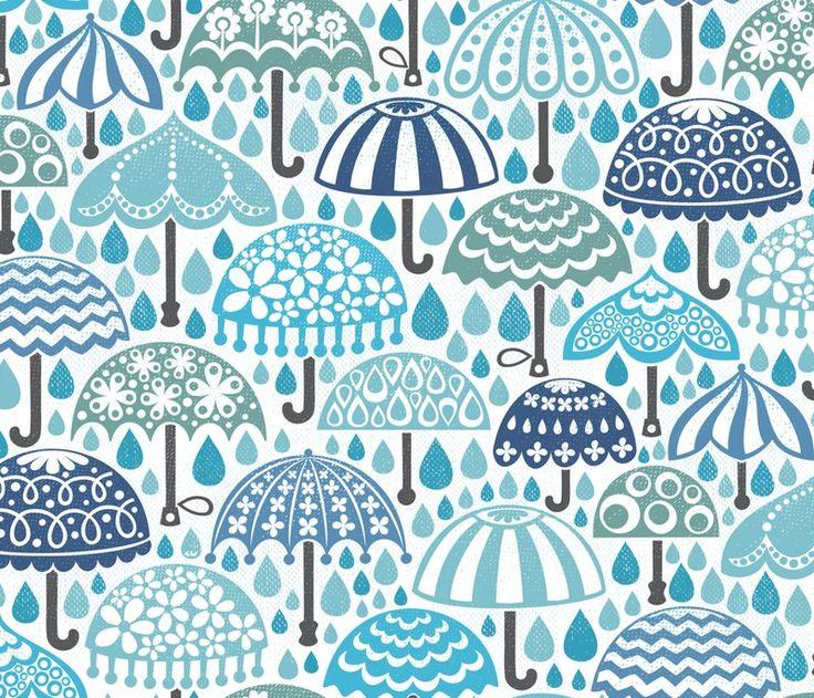 Spoonflower Fabric of the week voting: Umbrellas