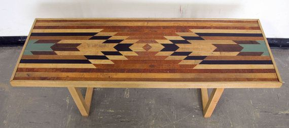 Bullhead XV Coffee Table Bench / Rustic Modern by JosephHuber, $625.00