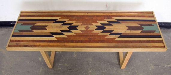 Bullhead XV Coffee Table Bench / Rustic Modern Urban Design