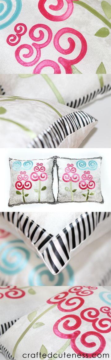 Common swirls found in Hmong clothing used for pillows.