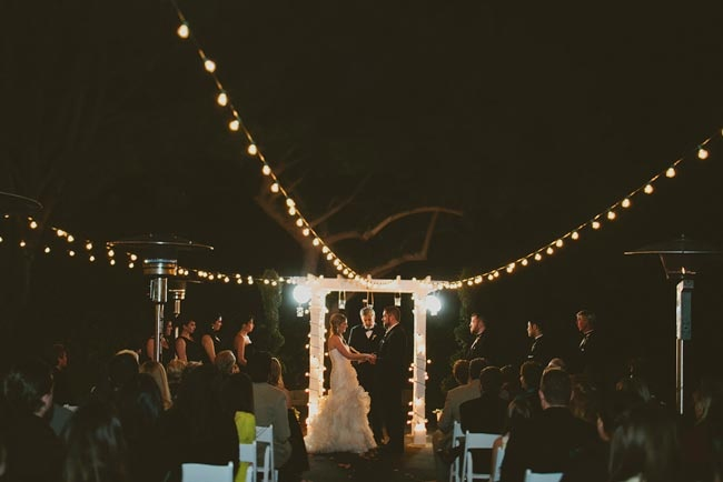 Night wedding ceremony  //  jackiewondersblog.com