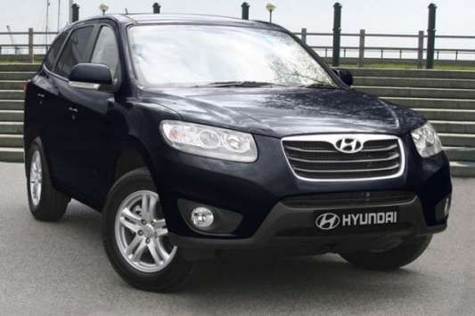 Used 2010 (60 reg) Blue Hyundai Santa Fe 2.2 CRDi Style 5dr [7 Seats] for sale on RAC Cars