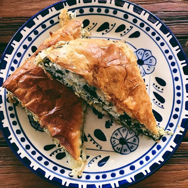 You had a long week. You deserve some spanakopita. #hellenicaesthetic