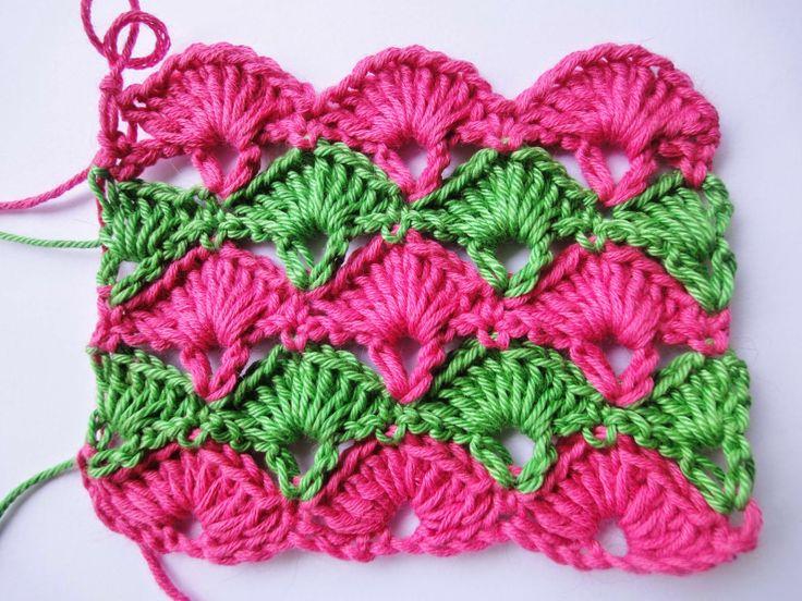 "Вязание крючком: Узор ""ВЕЕР"" Crochet Pattern"