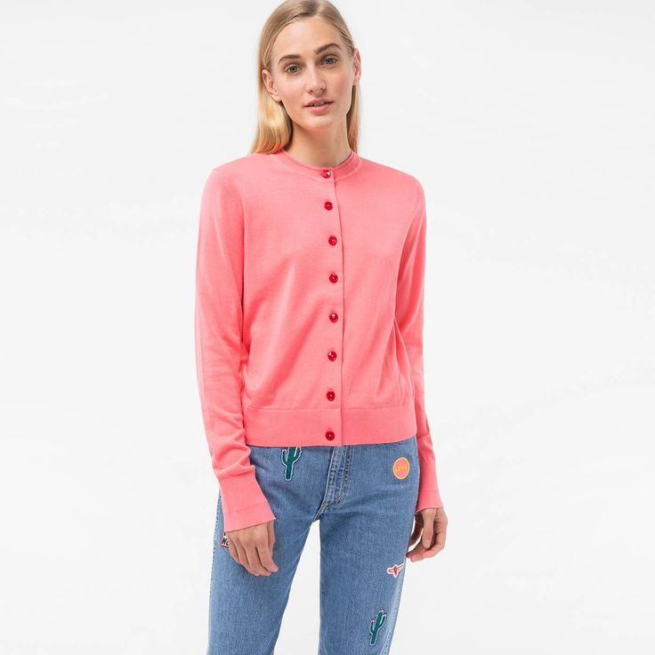 paul smith bags cheap, Paul Smith Womens Pink Cotton Cardigan Psxp-161K-756-F, paul smith london aftershave outlet boutique - $94.76