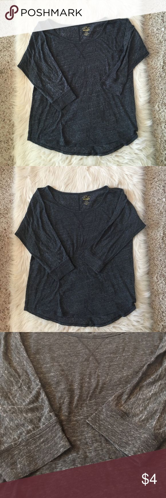 3/4 sleeve shirt Good pre-loved condition. Lightweight. 3/4 sleeves. Nice color to mix with bright pants. Old Navy Tops Tees - Long Sleeve