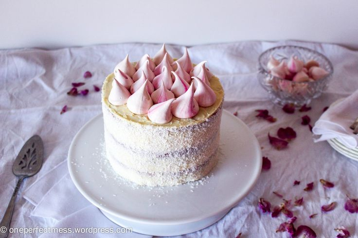Raspberry, Coconut and White Chocolate Celebration Cake recipe One Perfect Mess 1