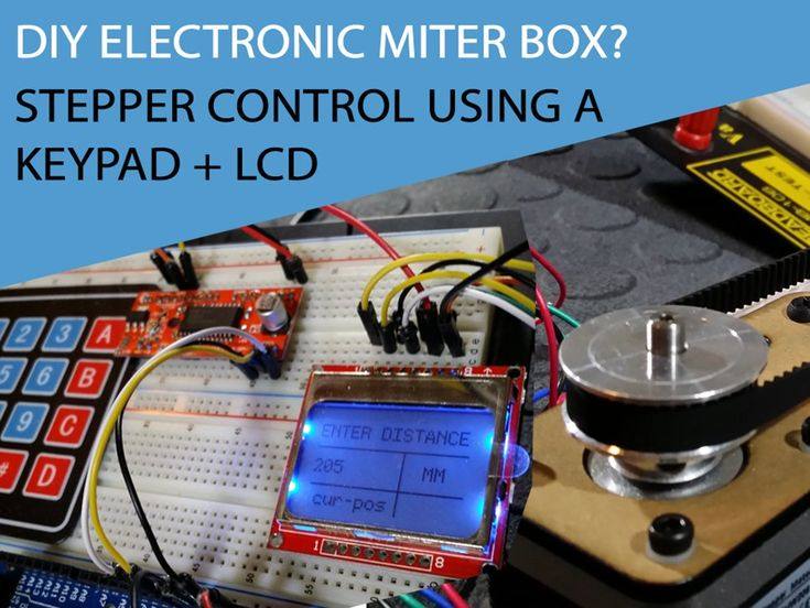 TUTORIAL DIY Electronic miter box! Controlling a Stepper motor with an Arduino and a Keypad - OVERVIEW In this tutorial we will see how to move a stepper motor to an exact position that we enter on a keypad. Plus we will display