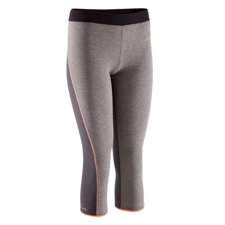Odziez damska fitness Fitness, Taniec, Gimnastyka - Spodnie 7/8 Breathe DOMYOS - Fitness, Taniec, Gimnastyka