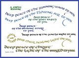 Deep Peace: A tenth century Gaelic Blessing,  hand lettered by artist/calligrapher, Jacqueline Shuler