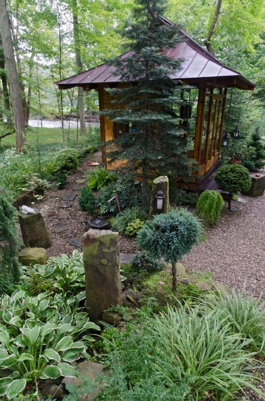 Japanese Tea House  Garden ideas  Pinterest