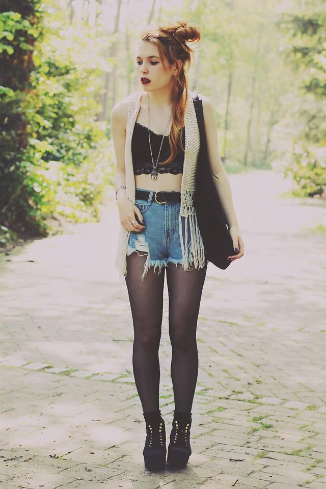 Shop this look on kaleidoscope shorts top vest fashion Animal fashion style me girl