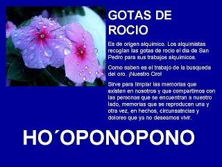 GOTAS DE ROCIO - HOOPONOPONO EL PODER DEL AMOR