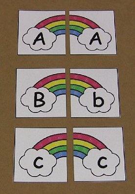 Rainbow Alphabet Puzzles
