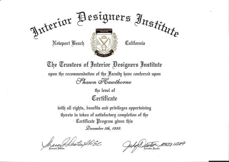Certificate Of Interior Design the interior design institute | interior design idea | pinterest