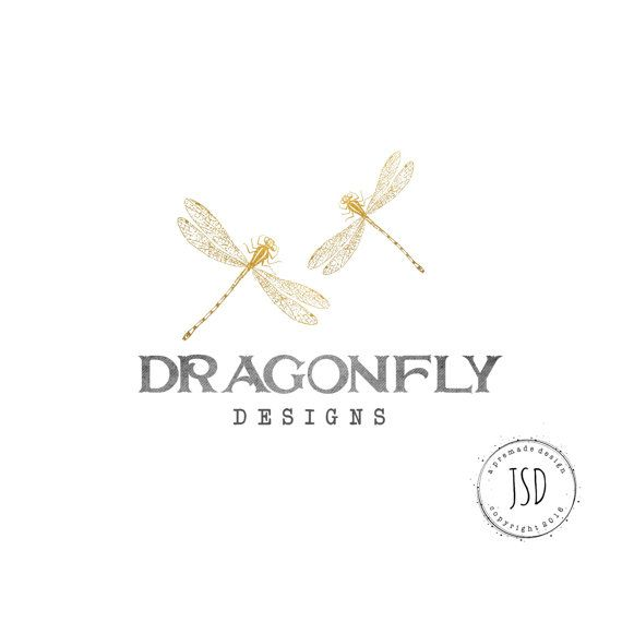 Logo Design-Dragonfly Logo-Photography by JupiterStreetDesigns