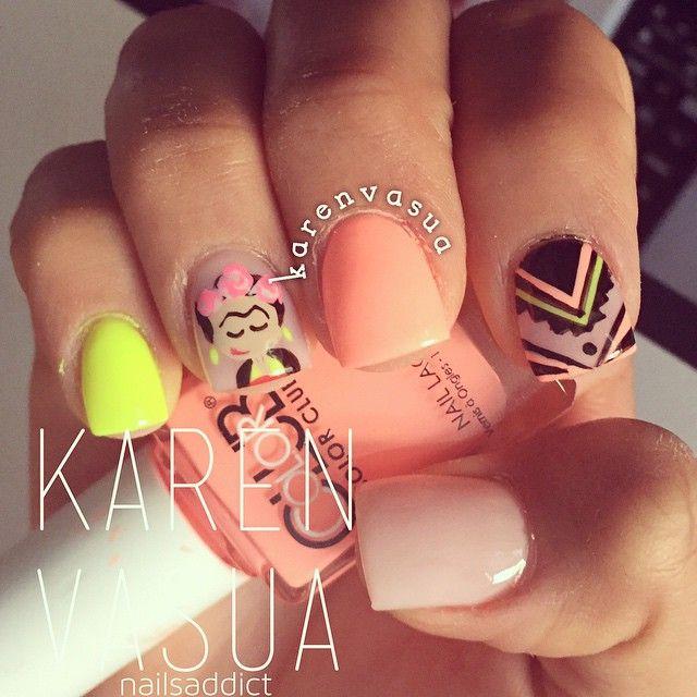#frida #lovenails Karen Vasua la mejor!