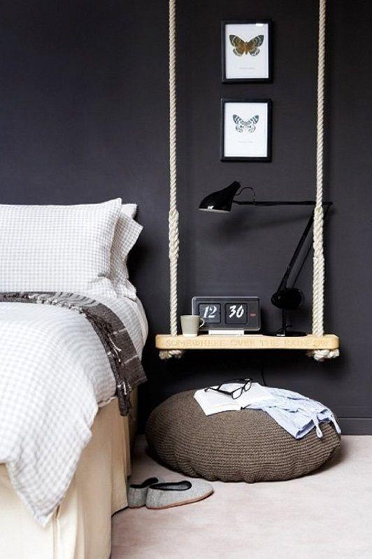 Créer une table de nuit originale! Voici 20 idées pour vous inspirer…