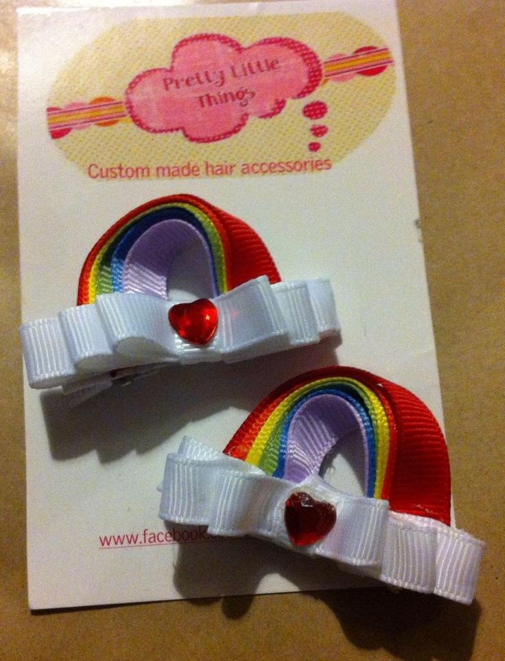 Rainbow Hair Clips Ribbon Sculptures - The Supermums Craft Fair