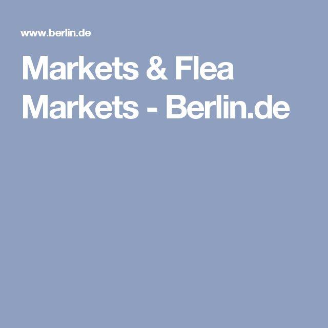 Markets & Flea Markets - Berlin.de