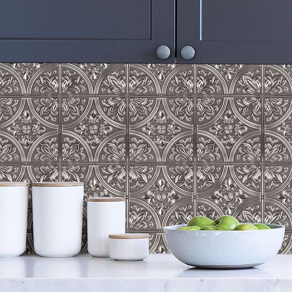 Faux Stone Wallpaper Peel And Stick Simple Shapes Faux Stone Wallpaper Stone Wallpaper Laundry Room Design