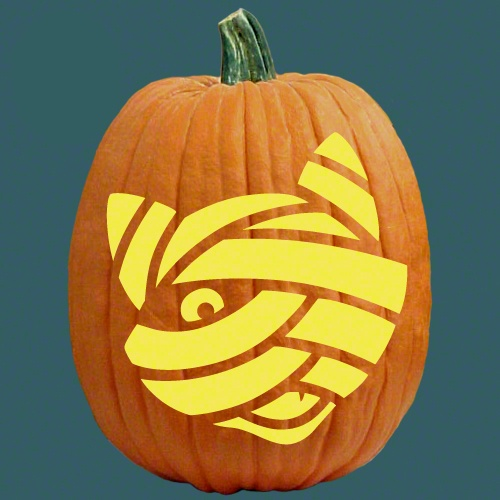 Mummy cat pumpkin carving halloween carvings