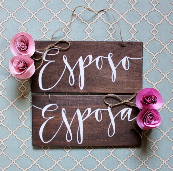 Esposo and Esposa Spanish Wedding Day Chair Signs on Etsy, Sold
