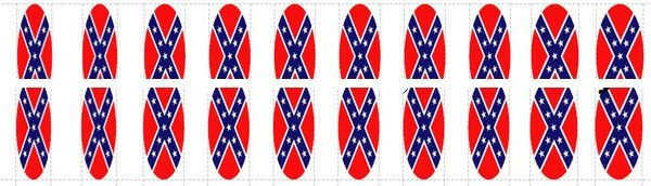 20pc Dixie Sweetheart Rebel Confederate Flag Full Nail Decals Nail Wraps Water Slide Decal Best Price NC208