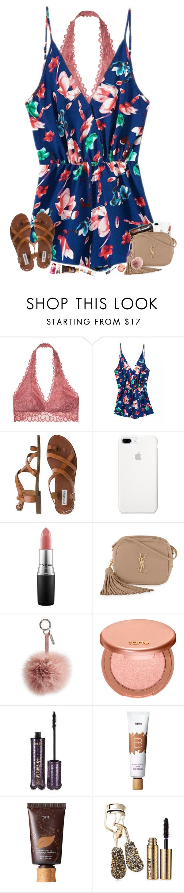"""summer set but oh "" by hopemarlee ❤ liked on Polyvore featuring Victoria's Secret, Steve Madden, Louis Vuitton, MAC Cosmetics, Yves Saint Laurent, Fendi, tarte and hmsloves"