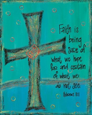 you gotta have faith, faith, faith.