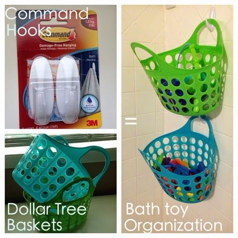 Kids' bath toy storage - genius