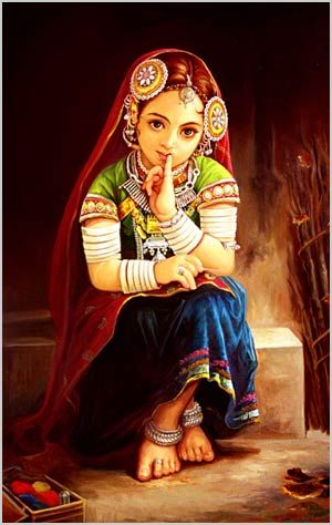 painting of rabari girl