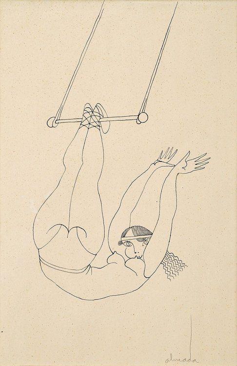 "Almada Negreiros(1893-1970 )""Trapezista""Tinta da China sobre..."