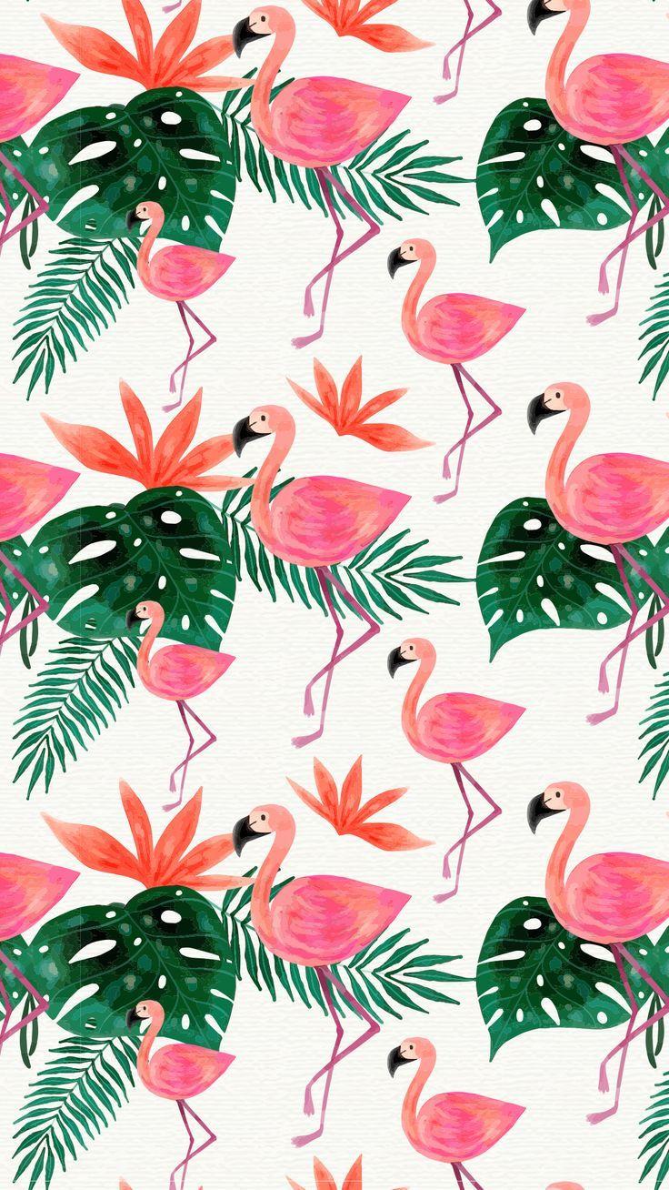 Watercolor Flamingo Cuteness Mobile Wallpaper Tropical Pink Green Cuteness Flamingo Gr Pink Wallpaper Backgrounds Flamingo Wallpaper Bird Wallpaper