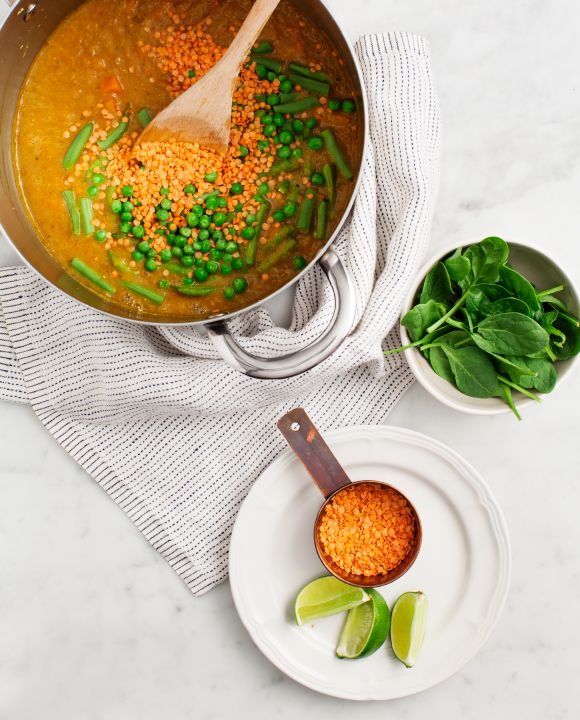 Curried Red Lentil Sweet Potato Stew