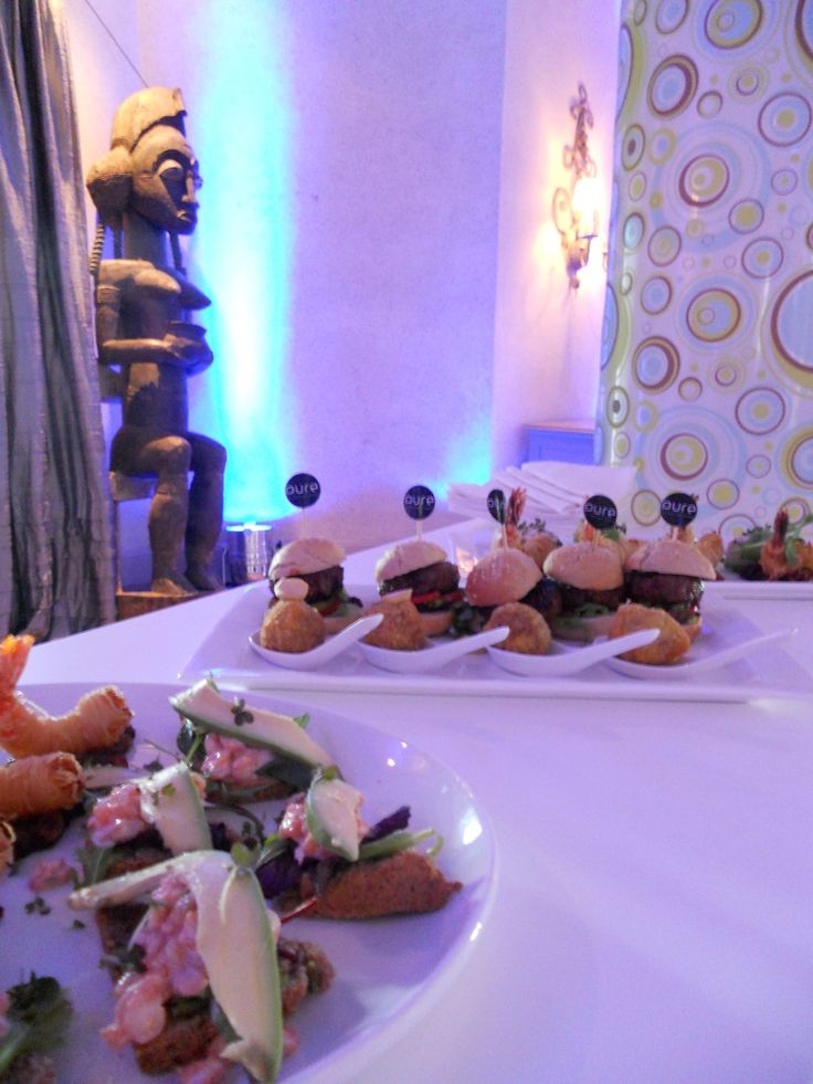 Scrumptious #lunch #food #canapes for Volvo media #launch